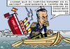 Cartoon: Ex-Capitan (small) by RachelGold tagged spain,zapatero,psoe,barco,resignation,election