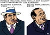 Cartoon: Famous Tax Dodgers (small) by RachelGold tagged italy,justice,berlusconi,capone,tax,evasion