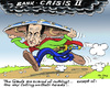 Cartoon: Gauls (small) by MarkusSzy tagged sarkozy,france,gaul,asterix,shield,eu,economy,crisis,bank,sky