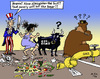 Cartoon: Self-Sanctioning (small) by MarkusSzy tagged eu,usa,russia,sanctions,economy,gas,export,bull,europe,bear,uncle,sam