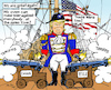 Cartoon: Trade War on many Fronts (small) by MarkusSzy tagged usa,eu,china,world,trade,war,trump,captain,great,again,navy,galeone,cannon