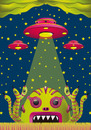 Cartoon: alien toxic invasion (small) by elmoro tagged illustration,illustrator,digital,vector,psychedelic,trip,art