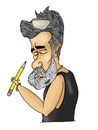 Cartoon: Cartoonist (small) by Nayer tagged cartoonist,lucido,romania,nayer,sudan