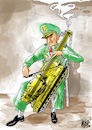 Cartoon: Symphony of Destruction (small) by Nayer tagged war,peace,military,general,destruction,symphony
