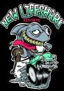 Cartoon: Poster New Lifeshark Records (small) by Christian Nörtemann tagged shark,hot,rod