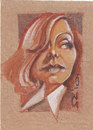 Cartoon: Greta Garbo (small) by zed tagged greta,garbo,sweden,actor,hollywood,usa,portrait,caricature