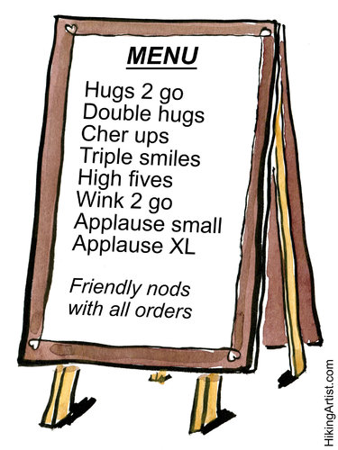 Cartoon: Hugs 2 go for hurried people (medium) by Frits Ahlefeldt tagged love,affection,coffee2go,kindness,businesspeople,hugs,smiles,life,cartoon