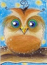 Cartoon: Owl (small) by Metalbride tagged eule