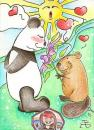 Cartoon: will you be my valentine? (small) by Metalbride tagged kakaokarten,sammelkarten,traiding,cards