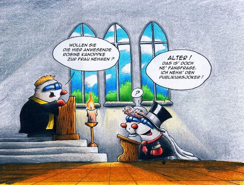 Cartoon: Hochzeit (medium) by Jupp tagged maulwurf,cartoon,hochzeit,wedding,jupp,trauung