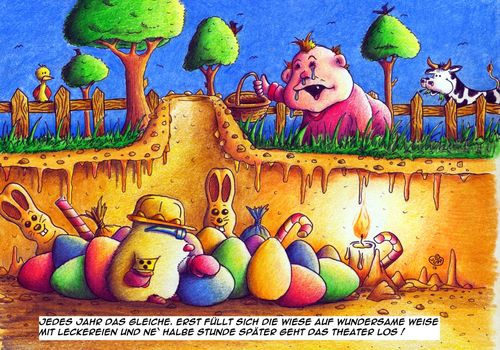 Cartoon: Maulwurf Ostern Eiersuchen (medium) by Jupp tagged rotz,osternest,watz,bau,höle,theater,heulen,tradition,ernährung,spass,bild,bilder,fest,zeichnung,cartoon,illustration,eastereggs,ostereier,boom,bomm,jupp,child,kind,baby,kuh,seeking,suchen,eiersuchen,ei,egg,eggs,eier,easter,ostern,mole,maulwurf,fun