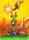 Cartoon: Krokanteier in Space (small) by Jupp tagged space,illustration,alien,sun,sunset,pain