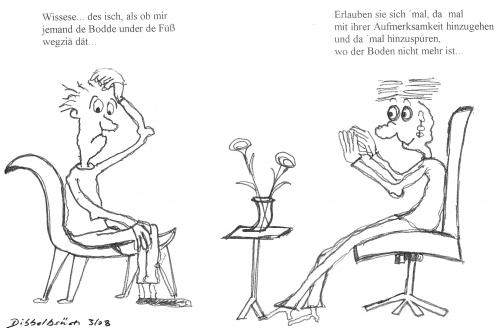 Cartoon: Boden weg (medium) by Dibbelbsüch tagged no,tags,