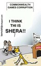 Cartoon: Is this Shera!?? (small) by bamulahija tagged sports cwg corruption cartoon commonwealth games new delhi