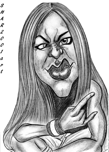 Cartoon: Avril Lavigne (medium) by shar2001 tagged lavigne,avril,caricature