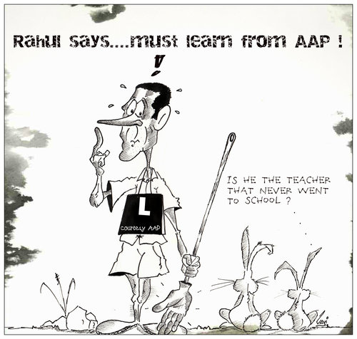 Cartoon: Dial R..... to be routed (medium) by mindpad tagged congress,party,delhi,assembly,polls,2013,cartoon,rahul,gandhi