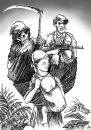 Cartoon: Congo (small) by Nizar tagged congo,cholera,force,militia,peacekeeper,un,troop,displace,violence,people,refugees