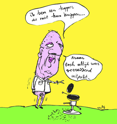 Cartoon: hairdresser with big surprise (medium) by studionuts tagged cartoons