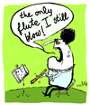 Cartoon: the only flute I still blow (small) by studionuts tagged music,love,sex