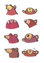 Cartoon: Bear character heads (small) by Playa from the Hymalaya tagged bär,bear,bären,bears,charaktere,characters,comic
