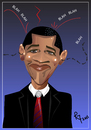 Cartoon: The Obama Balancing Act (small) by remyfrancis tagged barack obama usa president political personality
