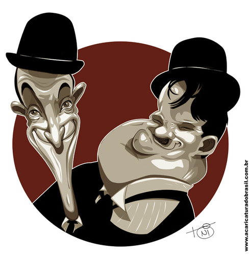 Cartoon: Laurel and Hardy (medium) by Toni DAgostinho tagged laurel,and,hardy