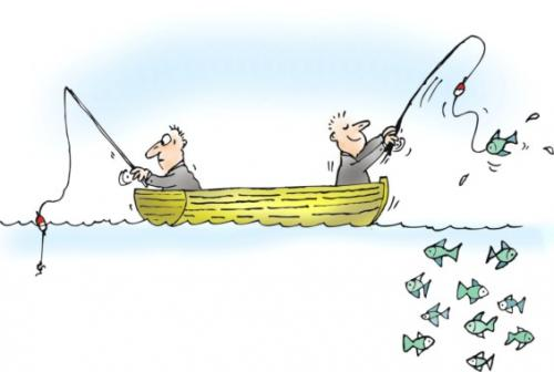 Cartoon: fishing luck patience (medium) by martin guhl tagged fishing,luck,patience,boat,fish