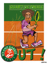 Cartoon: Gael MONFILS elimine ... (small) by CHRISTIAN tagged roland,garros,gael,monfils