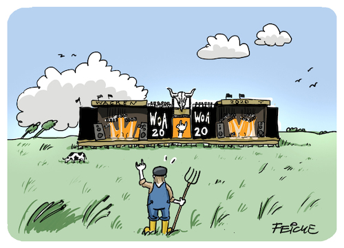 Cartoon: Wacken 2020 (medium) by FEICKE tagged wacken,musik,rock,corona,wacken,musik,rock,corona