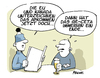 Cartoon: CETA kommt (small) by FEICKE tagged ceta,abkommen,wortspiel,flachwitz