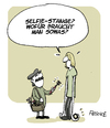 Cartoon: Selfie-Stange (small) by FEICKE tagged selfie,handy,mobile,phone,telefon