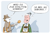 Cartoon: Sondierungschance (small) by FEICKE tagged csu,seehofer,bayrisch,sprache,wortwitz