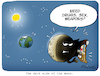 Cartoon: The dark side of the moon (small) by FEICKE tagged moon,sun,earth,planet,dark,side,heaven,sky