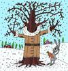 Cartoon: oak is ok (small) by belozerov tagged tree,oak,coat,winter,hare