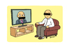 Cartoon: Interview 4 (small) by Vhrsti tagged interview,tv,broadcasting,armchair,listener,viewer,media,press,news