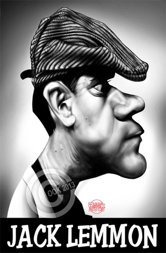 Cartoon: Jack Lemmon (medium) by Russ Cook tagged jack,lemmon,actor,caricature,hollywood,america,american,some,like,it,hot,glengarry,glen,ross,the,odd,couple,grumpy,old,men,russ,cook,digital,portrait,cintiq,photoshop