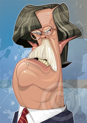 Cartoon: John Bolton (medium) by Russ Cook tagged vector,wing,right,republican,portrait,politics,politician,illustration,digital,cartoon,caricature,art,american,america,cook,russ,bolton,john