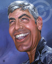 Cartoon: George Clooney (small) by Russ Cook tagged george clooney celebrity acrylic karikatur karikaturen zeichnung painting actor caricature star hollywood famous america american russ cook