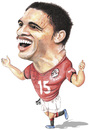 Cartoon: Muhammad Naji Gedo (small) by samir alramahi tagged muhammad,naji,gedo,egypt,football,player,african,nations,cup,soccer,2010,top,scorer,portrait