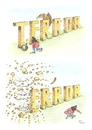 Cartoon: TERROR (small) by Erwin Pischel tagged terror,terrorakt,sprengstoffattentat,attentat,sprengstoff,tnt,islamismus,is,isis,islamischer,staat,paris,brüssel,aasgeier,federn,bombe,attentäter,pischel