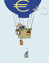 Cartoon: Euro-Ballon (small) by JanKunz tagged euro,ballon,euroländer,luft