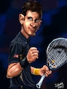 Cartoon: novak djokovic (small) by sziwery tagged novak,djokovic