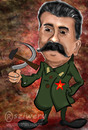 Cartoon: stalin (small) by sziwery tagged politicians,stalin,communism