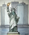 Cartoon: American freedom (small) by caknuta-chajanka tagged statue,of,liberty,human,rights