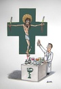 Cartoon: Jesus Christ Medicstar (small) by caknuta-chajanka tagged pharmacy,medics,jesus,christ