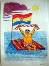 Cartoon: S.O.S. (small) by caknuta-chajanka tagged fan,national,sea,shipwreck