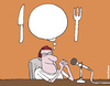Cartoon: Thinking about food (small) by martirena tagged food,countries