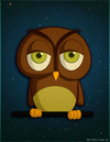 Cartoon: A random Owl (small) by kellerac tagged owl,animal,nature,cartoon,caricatura,kellerac,maria,keller,buho,naturaleza