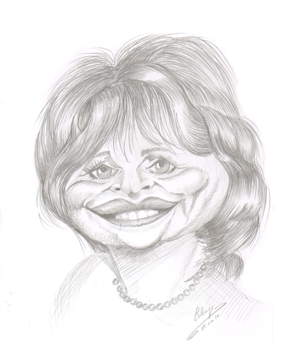 Cartoon: Cindy Williams (medium) by cabap tagged caricature