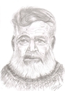 Cartoon: Ernest Hemingway (small) by cabap tagged caricature